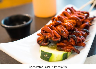 isaw or chicken intestine is one of favorite delicacy of Filipinos