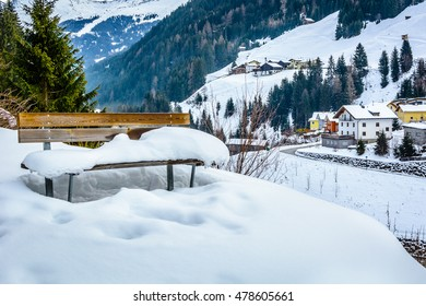 Ischgl is famous european skii resort, Austria Europe. / Ischgl snow landscape Austria. / Selective focus.