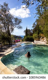 Ischia, Gulf of Naples, Campania Region, Italy, 12th August 2017: Negombo Hydrothermal Park Pool