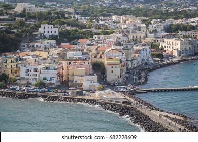 Ischia Ponte , view from the Castello Aragonese, Ischia Island, Italy
