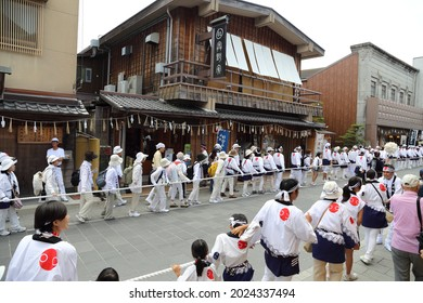 Ise, Japan, august 2013.The Ise Grand Shrine ,  is a Shinto shrine dedicated to the sun goddess Amaterasu. Ise Renewal (Shikinen Sengu) it happens once every twenty years