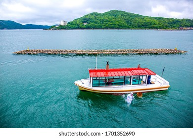 ISE, JAPAN, JUNE 27, 2019 :: Female pearl divers called ama who traditionally plants and harvests the oysters in the Mikimoto Pearl Island, Ise, Japan