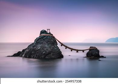 Ise, Japan at the Wedded Rocks of Futami.