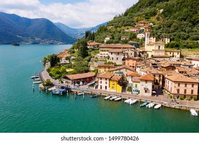 Iseo Lake (IT) - Peschiera Maraglio - aerial view