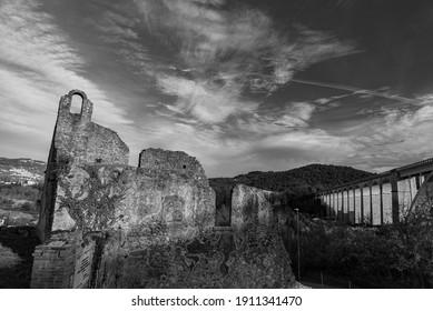 Isernia, Molise, ruins of the Celestial Convent of S. Spirito. View.