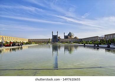 Isfahan / Iran - 03 Oct 2012: Naqsh-e Jahan Square in Isfahan, Iran. Meidan Emam.