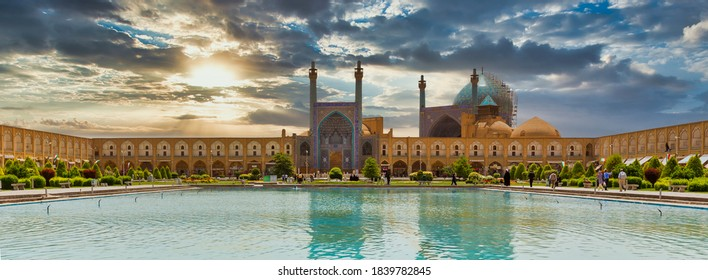 Isfahan, Iran - april 29, 2015: Imam Mosque (Masjed-e Imam) at Naghsh-e Jahan Square in Isfahan, Iran. Imam mosque is known as Shah Mosque. Its construction finished in 1629.