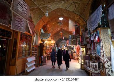 Isfahan, Iran - Circa September 2016 : Historical Grand Bazaar near Jameh Mosque