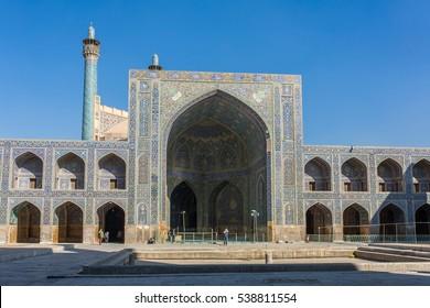 Isfahan, Iran - December 11, 2015: The Shah Mosque in Isfahan, Iran.