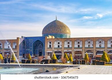 ISFAHAN, IRAN - December 31, 2011: Sheikh Lotfollah Mosque at Naqsh-e-Jahan Square in Isfahan, Iran.
