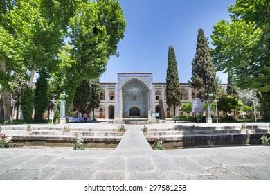 ISFAHAN, IRAN - MAY 1, 2015: Madrasa-ye-Chahar Bagh, in Isfahan, Iran.  Theological college built between 1704 and 1714.