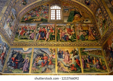 ISFAHAN, IRAN - SEPTEMBER 1: Vank Cathedral at 1 September, 2018 at Isfahan, Iran. Vank is the main cathedral of the Armenian community in Isfahan.