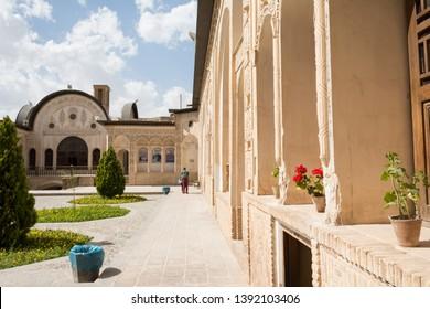 Isfahan Province- Kashan  IRAN-April 30, 2019 historical building Tabatabaei house landmark from Qajar dynasty