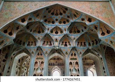 isfahan/iran - 08/18/2015: photo of Music room of Ali Qapu palace