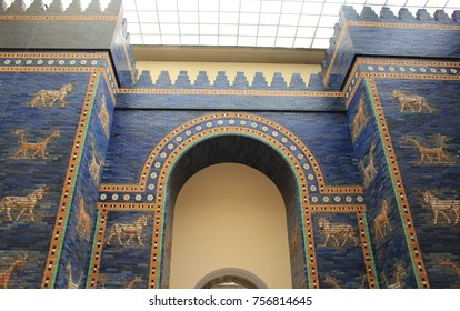 Ishtar Gate in Museum of Pergamon (Pergamonmuseum) in Berlin, Germany - July 2017