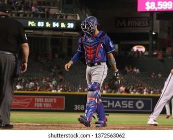 Isiah Kiner-Falefa catcher for the Texas Rangers at Chase Field in Phoenix,AZ/USA April 10,2019.