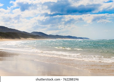 Isimangaliso Wetland Park beach, South Africa. South African landscape. St. Lucia National Park