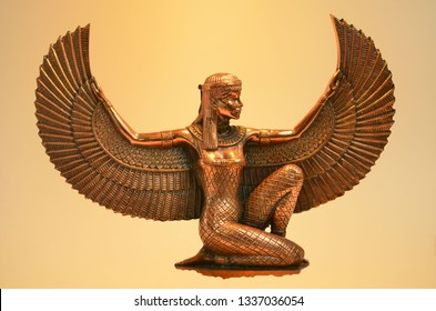 Isis Goddess of the Religion of Ancient Egypt, Metal - Copper