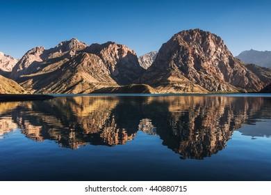 Iskanderkul Lake, Fann mountains, Tajikistan, Central Asia