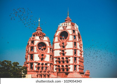 Iskcon temple in New Delhi, India