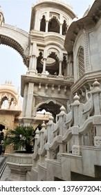 Iskcon temple showing the Tower and part of main arch - Vrindavan,UP -India, Dec 7, 2015