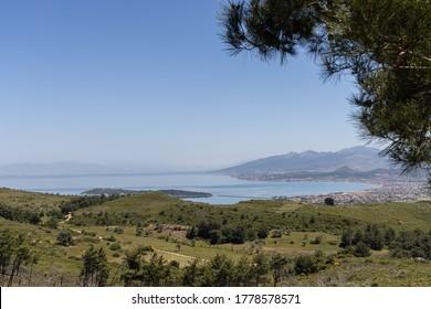 iskele-karantina/ Urla / Izmir / Turkey, MAY 11, 2020, Views from small sea town