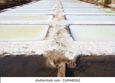 Isla Cristina saltworks, Huelva, Spain. Swamps and mud flats