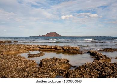Isla de Lobos, Canary Islands, Spain. Volcanic Island complete wild.