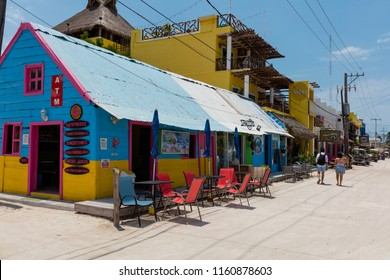 ISLA HOLBOX, MEXICO - April 27, 2018: Isla Holbox is a car-free island rich in marine life such as sea turtles and whale sharks.