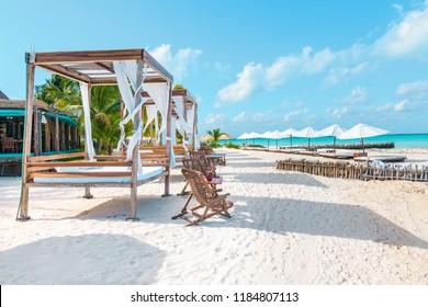 Isla Mujeres, Mexico - May 16 2018: Playa Norte