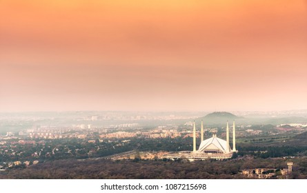 Islamabad  Landscape, including the Faisal Mosque