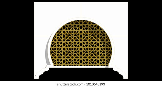 Islamic arch with the ventilation block