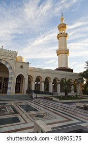 Islamic architecture of a mosque in Jordan
