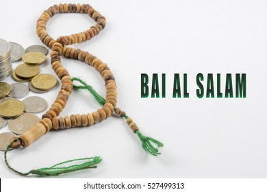 Islamic banking or financing concept  arrangement word illustration concept.  Bai Al Salam is translate to Advance Payment in English.