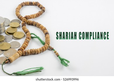 Islamic banking or financing concept and l graphics and arrangement word illustration concept