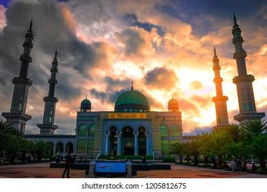 Islamic concept: beautiful big mosque