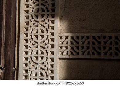 Islamic design around a doorway.