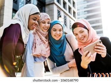 Islamic friends spending time together