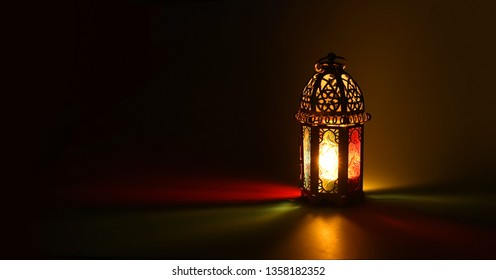 Islamic greeting  Eid Mubarak cards for Muslim Holidays.Eid-Ul-Adha festival celebration.Arabic Ramadan Lantern .Decoration lamp