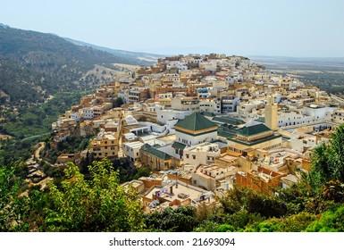 Islamic holy town Moulay Idriss near Meknes, Morocco