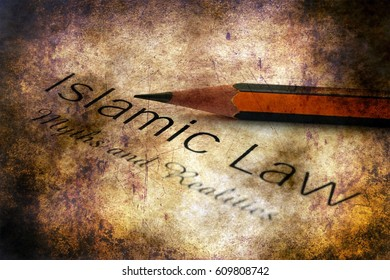 Islamic law grunge concept