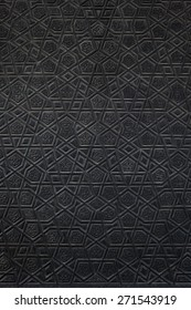 islamic pattern wooden engraving background