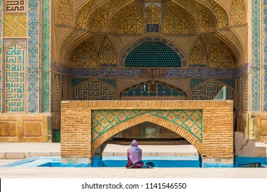 Islamic Republic of Iran. Isfahan (Esfahan). The Jameh Mosque is the grand, congregational mosque. A UNESCO World Heritage Site. Worshipper.