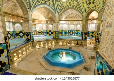 Islamic Republic of Iran. Isfahan Province, Kashan. March 4, 2018. Sultan Amir Ahmad Bathhouse, Hammam.
