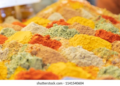 Islamic Republic of Iran. Isfahan.Spice mixture for sale in the Bazaar.