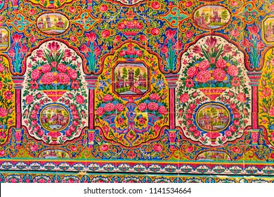 Islamic Republic of Iran. Shiraz. Nasir al-Mulk Mosque, the Pink Mosque located in Gawd-i Araban quarter, near Shah Cheragh Mosque.