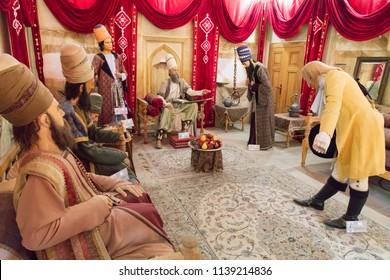 Islamic Republic of Iran. Shiraz. Shah Cheragh, Holy Shrine. March 9, 2018. Diorama of lifestyle.