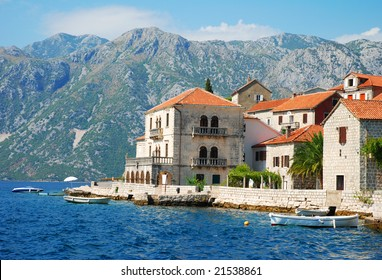 Island in Adriatic sea. Kotor.