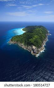Island from the air thailand