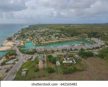 Island of Barbados Port and Marina from the sky